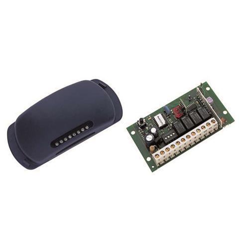 4-kanaals ontvanger 433MHZ, puls, maak, verbreek en timer, bereik ca. 80-250mtr