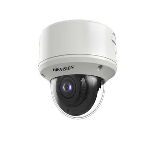 Hikvision Turbo HD HDoC Dome camera Voor buitengebruik en vandaalbestendig Resolutie: 2MP Lens: 2.7-13.5mm MZF