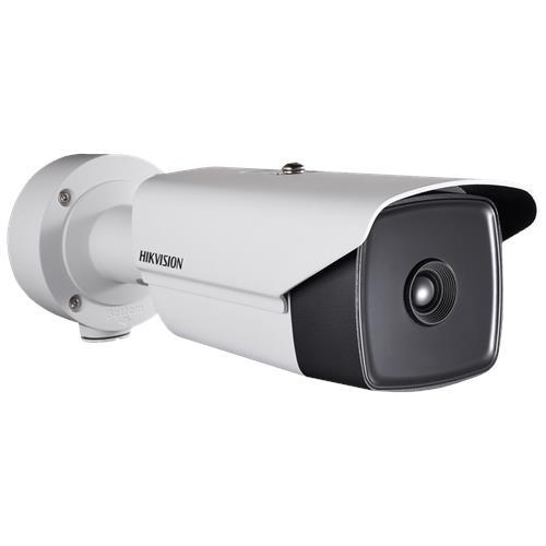 Hikvision Thermal Thermal IP Thermografische camera Voor buitengebruik Resolutie Thermisch: 384x288 pixels Lens: 7mm (54.78° × 42.47°)