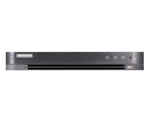 Hikvision Turbo HD Hybride IP + Analoog HD 16 Kanaals + 16 IP Bandbreedte: 10Mbps 2 SATA, capaciteit tot 10TB voor elke HDD Geen POE