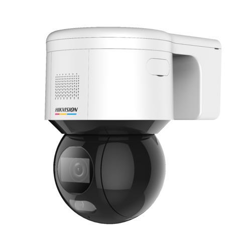 Pro ECO Serie, Mini IP PTZ Dome Camera, Voor Buitengebruik, Lens 4mm, Wit Licht 30m, Colorvu