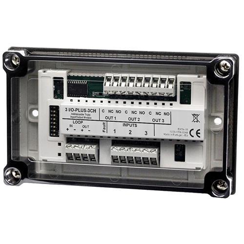 TEF, Lusmodule, 3 input bewaakt, 3 output relais, Inclusief behuizing <(>&<)> isolator