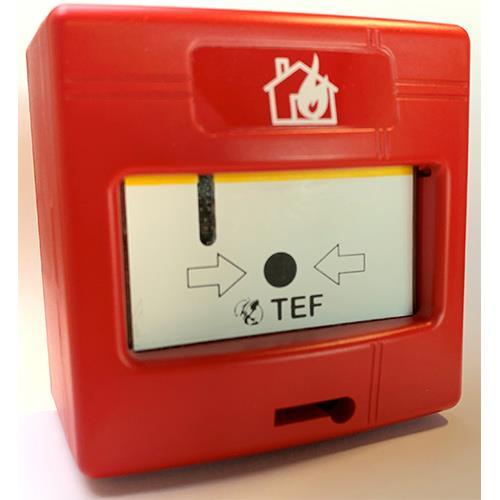 TEF, handbrandmelder, Analoog adresseerbaar, inclusief isolator