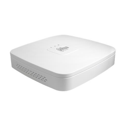 Dahua NVR 4 Kanaals Bandbreedte: 80Mbps/80Mbps 1 SATA, capaciteit tot 6 TB voor elke HDD 4x PoE poorten