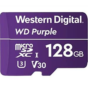 WD Purple WDD128G1P0A - flashgeheugenkaart - 128 GB - microSDXC Flashgeheugenkaart microSDXC 128 GB Video Class V30 / UHS-I U3 Paars