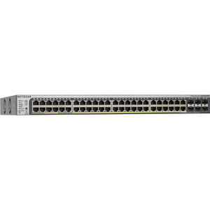 Netgear ProSafe GS752TPS 46 poorten Beheer mogelijk Ethernetswitch - Twisted-pair - 2 Layer Supported - Monteerbaar in rek, Bureaublad - Levenslang Limited Warranty
