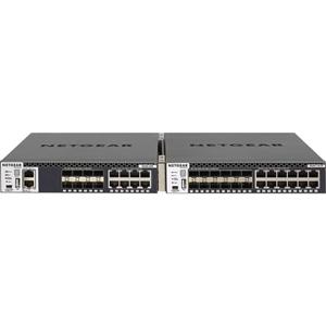 Netgear ProSafe M4300-8X8F (XSM4316S) 8 poorten Beheer mogelijk L3 switch - 8 Netwerk, 8 Expansieslot - Modulair - Optische vezel, Twisted-pair - 3 Layer Supported - 1U hoog - Monteerbaar in rek