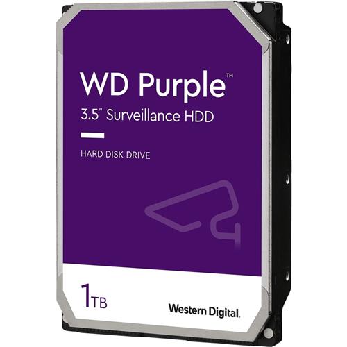 """WD Purple WD10PURZ 1 TB 3.5"""" Intern Harde schijf - SATA - 5400rpm - 64 MB buffer"""