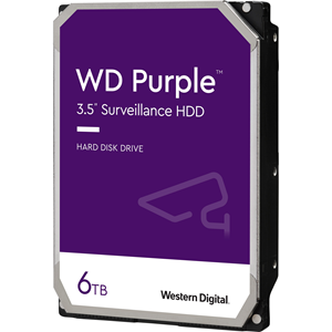 "WD Purple WD60PURZ 6 TB 3.5"" Intern Harde schijf - SATA - 5400rpm - 64 MB buffer"