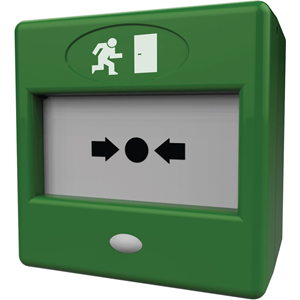 CQR FP3 Handmatig oproeppunt - Groen - Plastic, Glas, ABS-plastic