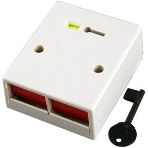 CQR PADP2 Drukknop - Wit - ABS-plastic