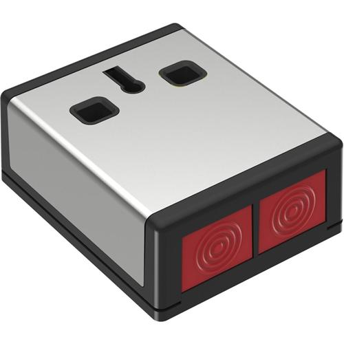 CQR DP3 Drukknop - Roestvrijstaal, Zwart - ABS-plastic, Roestvrijstaal