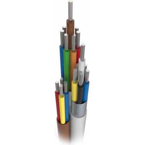 CQR Control kabel voor Alarm - 100 m - Kaal draad - Kaal draad - Grijs