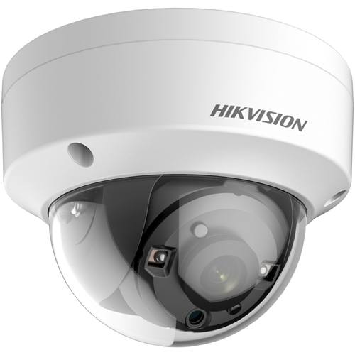 Hikvision Turbo HD DS-2CE56D8T-VPITE 2 Megapixel Surveillance camera - Kleur, Monochroom - 20 m Night Vision - 1920 x 1080 - 2,80 mm - CMOS - Kabel - dome - Muurbevestiging, Paalmontage, Bevestiging voor verdeeldoos, Hangbevestiging, Plafondsteun