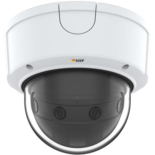 AXIS P3807-PVE 8,3 Megapixel Netwerkcamera - dome - H.264, MPEG-4, MJPEG - 4320 x 1920 - RGB CMOS - Ingebouwde montage, Paalmontage, Muurbevestiging, Voetmontagebeugel, Plafondsteun, Hoekbevestiging