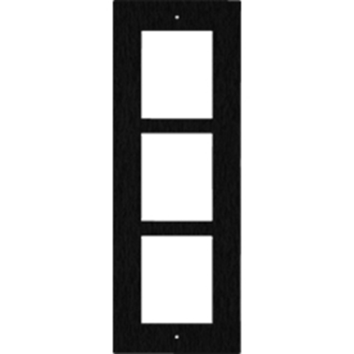 2N Frontplaat - Geborsteld staal - Zwart - Muurbevestiging, Flushmount
