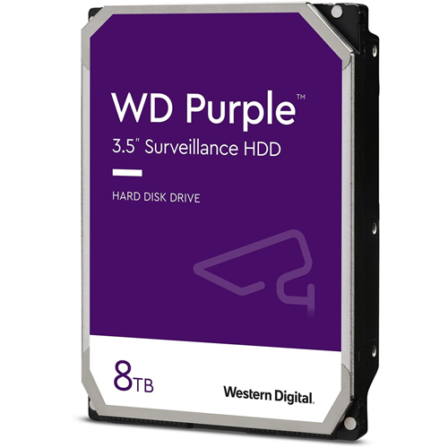 """WD Purple WD82PURZ 8 TB Harde schijf - 3.5"""" Intern - SATA (SATA/600) - 7200rpm - 256 MB buffer - 3 Jaar garantie"""