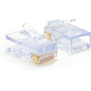 W Box Goud gegalvaniseerd Netwerkconnector - 10 verpakking - 1 x RJ-45 Heren Netwerk