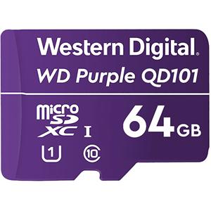 WD Purple WDD064G1P0C 64 GB Klasse 10/UHS-I (U1) microSDXC