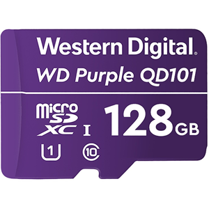 WD Purple WDD128G1P0C 128 GB Klasse 10/UHS-I (U1) microSDXC