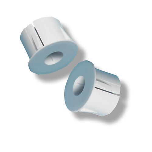 Adapter rond voor Inbouw in metaal, diameter 25mm, Wit