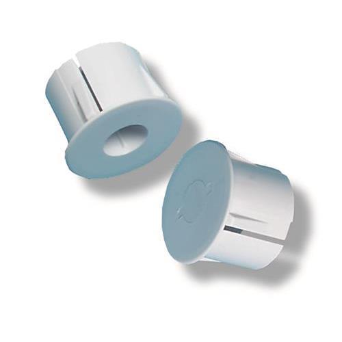 Adapter voor Inbouw in metaal, 1 met sterke magneet, diameter 19mm, Wit