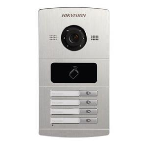 Hikvision intercom IP aluminium buitenpost woning 4 drukkn.
