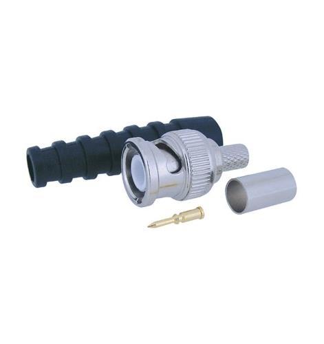 COAX CONN KRIMP BNC 6mm incl Tule