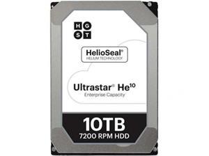 """WD Ultrastar DC HC510 HUH721010ALE604 Vaste schijf 10 TB intern 3.5"""" SATA 6Gb/s 7200 tpm buffer: 256 MB"""