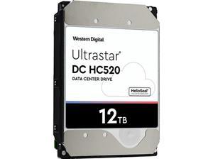 """WD Ultrastar DC HC520 HUH721212ALE604 Vaste schijf 12 TB intern 3.5"""" SATA 6Gb/s 7200 tpm buffer: 256 MB"""