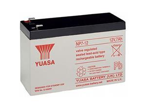 Yuasa NP7-12 Multifunctioneel Batterij - 7000 mAh - Gesloten lood (SLA) - 12 V DC - Oplaadbare batterij