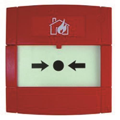 KAC MCP1A-R470FF-01 Handmatig oproeppunt Voor Brandalarm - Rood
