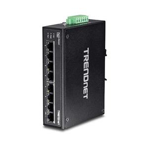 8 x Gigabit Ethernet-poorten 16 Gbps schakelcapaciteit Geharde metalen IP30-schakelaar Inclusief DIN-rail en muurbevestigingen Extreem -40