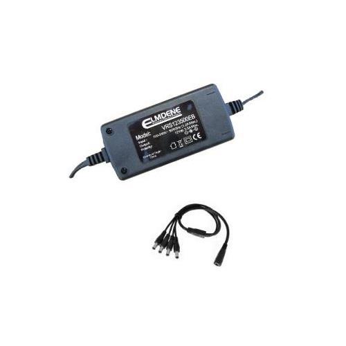 Elmdene Vision VRS125000EE AC-adapter voor CCTV-systeem - 120 V AC, 230 V AC Ingangspanning - 12 V DC Output Voltage - 5 A Uitgangsstroom