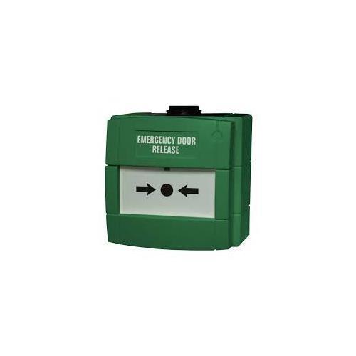 KAC WCP4A-G000SF-12 Handmatig oproeppunt Voor Outdoor - Enkelvoudige gang - Groen - Glas
