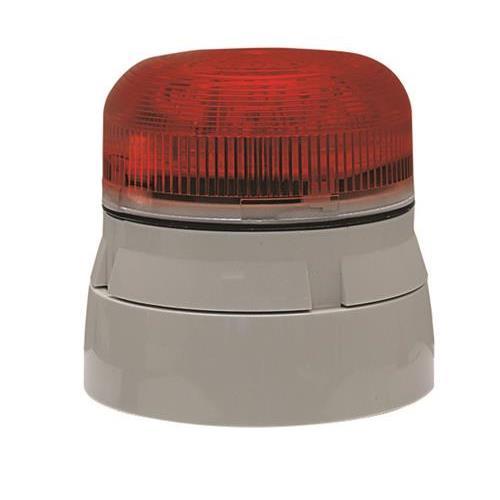 Klaxon Flashguard QBS-0052 Beveiligingsstroboscoop - 21 V DC - Visueel - Rood, Wit